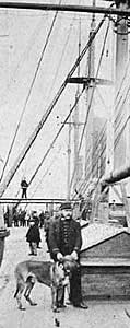 Taken in 1873 - The Great Eastern ship with crew and dog - from the National Maritime Museum, London