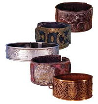 Antique Dog Collars in the Leeds Castle Museum