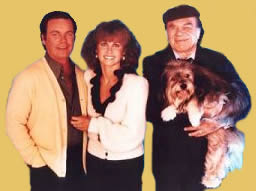 Freeway the dog with the cast of Hart to Hart