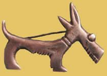 Mexican silver Scotty dog pin