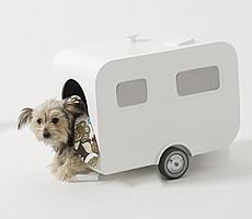 porcelain dog travel caravan and dog house