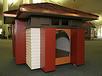 prarie style architectural dog house