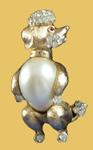 Trifari poodle pin
